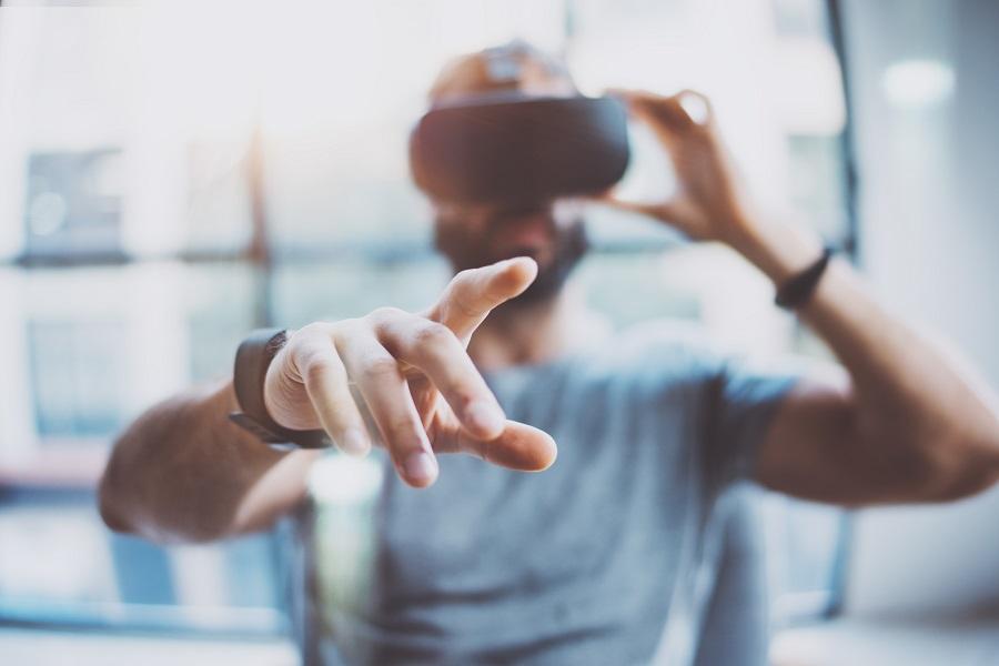 Man-Using-VR-Device